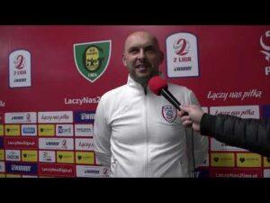 Marek Gołębiewski po meczu z GKS Katowice   23.04.2021