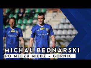 MIEDZ TV Michał Bednarski po meczu Miedź   Górnik