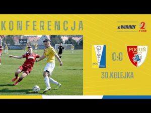 Read more about the article KONFERENCJA: Olimpia Elbląg 0:0 Pogoń Siedlce | 30. kolejka, eWinner 2. Liga