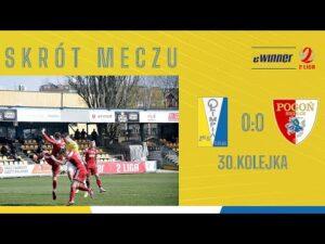 SKRÓT: Olimpia Elbląg 0:0 Pogoń Siedlce | 30. kolejka, eWinner 2. Liga