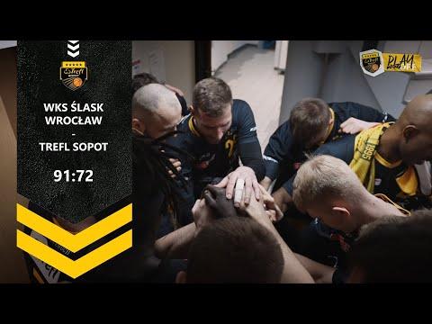 Drugi ćwierćfinał dla gospodarzy. WKS Śląsk Wrocław – Trefl Sopot 91:72 | Trefl Sopot