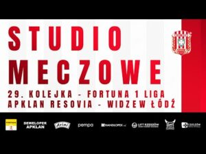 STUDIO MECZOWE 🎥⚪🔴 Apklan Resovia – Widzew Łódź