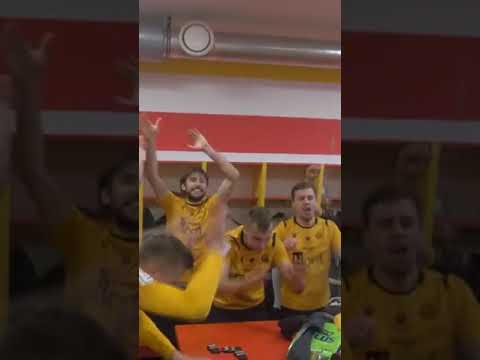 Radość piłkarzy GieKSy po wygranej w Chojnicach (28 05 2021)