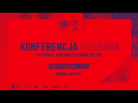 Konferencja po finale Fortuna Pucharu Polski z Arką Gdynia
