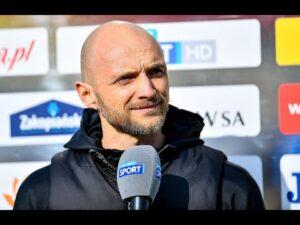 Read more about the article 28. kolejka Fortuna1Liga: Konferencja prasowa po meczu Puszcza Niepołomice – GKS Tychy 0:1