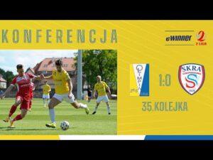 KONFERENCJA: Olimpia Elbląg 1:0 Skra Częstochowa | 35. kolejka, eWinner 2. Liga