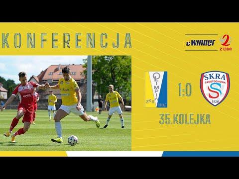 Read more about the article KONFERENCJA: Olimpia Elbląg 1:0 Skra Częstochowa | 35. kolejka, eWinner 2. Liga