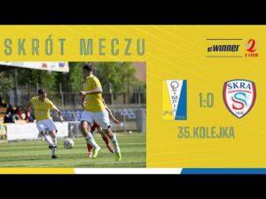 SKRÓT: Olimpia Elbląg 1:0 Skra Częstochowa   35. kolejka, eWinner 2. Liga