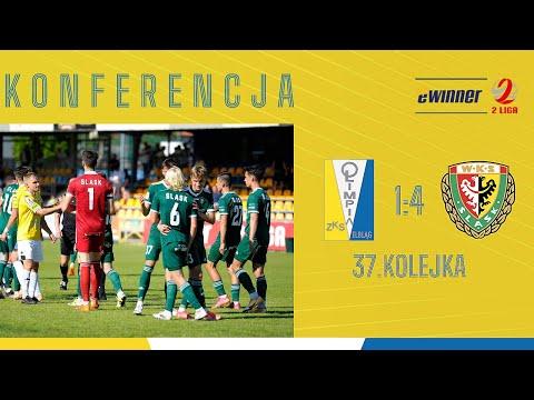 Read more about the article KONFERENCJA: Olimpia Elbląg 1:4 Śląsk II Wrocław | 37. kolejka, eWinner 2. Liga