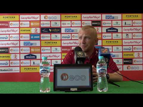 Konferencja po meczu 33. kolejki Fortuna 1 Liga: Odra Opole – GKS Tychy
