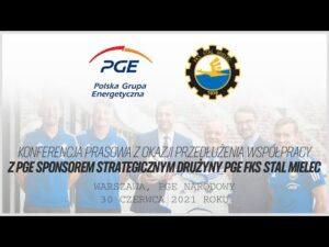 Read more about the article Konferencja prasowa – przedłużenie współpracy z PGE – Sponsor Strategiczny PGE FKS Stal Mielec