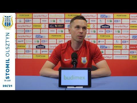 Piotr Klepczarek przed meczem z Miedzią Legnica (4.06.2021 r.)