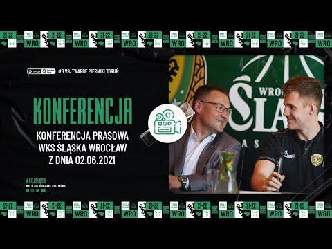 Konferencja prasowa WKS Śląska Wrocław z dnia 02.06.2021