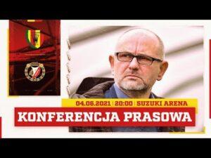 Konferencja prasowa po meczu Korona Kielce – Widzew Łódź