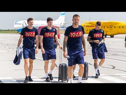 Read more about the article Dzień do meczu z NK Osijek   Podróż i oficjalny trening na stadionie