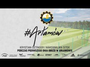 Read more about the article TV Stal: Krystian Getinger i Maksymilian Sitek podczas pierwszego dnia obozu w Arłamowie