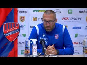 Read more about the article Konferencja prasowa po meczu FK Suduva – Raków Częstochowa 0:0