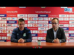 Read more about the article Konferencja prasowa po meczu Olimpia Grudziądz – Hutnik Kraków. Wypowiedź trenera Marcina Płuski.