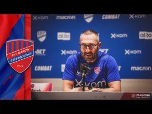 Read more about the article Konferencja prasowa po meczu Raków Częstochowa – Rubin Kazań