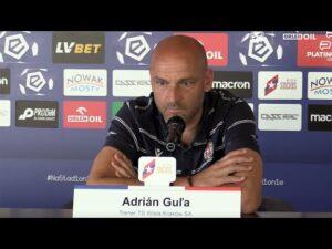 Read more about the article Trener Adrian Gula przed meczem z Górnikiem Łęczna – konferencja prasowa