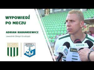Read more about the article Wypowiedź Adriana Karankiewicza po meczu z Kotwicą Kołobrzeg.