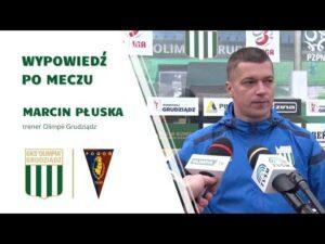 Read more about the article Wypowiedź trenera Marcina Płuski po meczu z Pogonią II Szczecin.