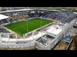 Read more about the article Budowa Stadionu w Szczecinie – Wiecha i dach nad trybuną północną