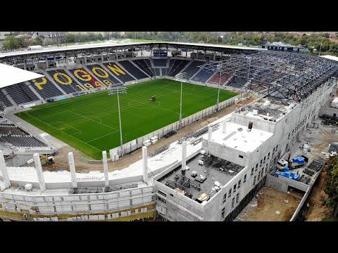You are currently viewing Budowa Stadionu w Szczecinie – Wiecha i dach nad trybuną północną