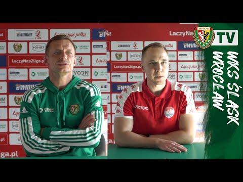You are currently viewing H. Błaszczak i K. Wołczek po meczu Śląsk II – Sokół Ostróda