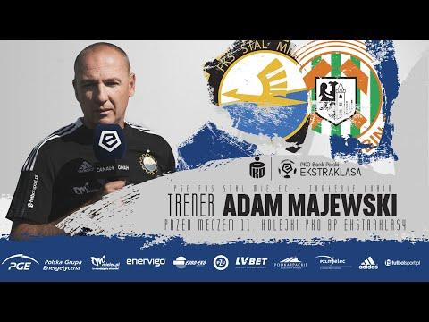 You are currently viewing TV Stal: 𝑇𝑟𝑒𝑛𝑒𝑟 Adam Majewski przed meczem 11. kolejki PKO BP Ekstraklasy