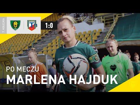 You are currently viewing Marlena Hajduk po meczu GKS Katowice – Tarnovia Tarnów 1:0 (02.10.2021)