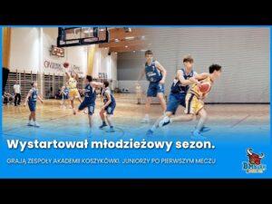 Read more about the article Wystartował młodzieżowy sezon. Grają zespoły Akademii Koszykówki. Juniorzy po pierwszym meczu